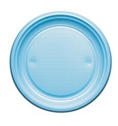 Plato de Plastico PS Llano Azul Claro Ø220mm (780 Uds)