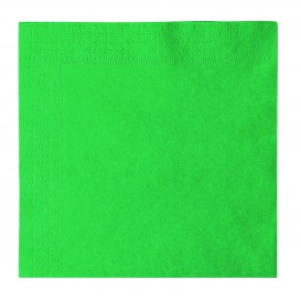 Servilleta de Papel 2 Capas Verde 33x33cm (1200 Uds)
