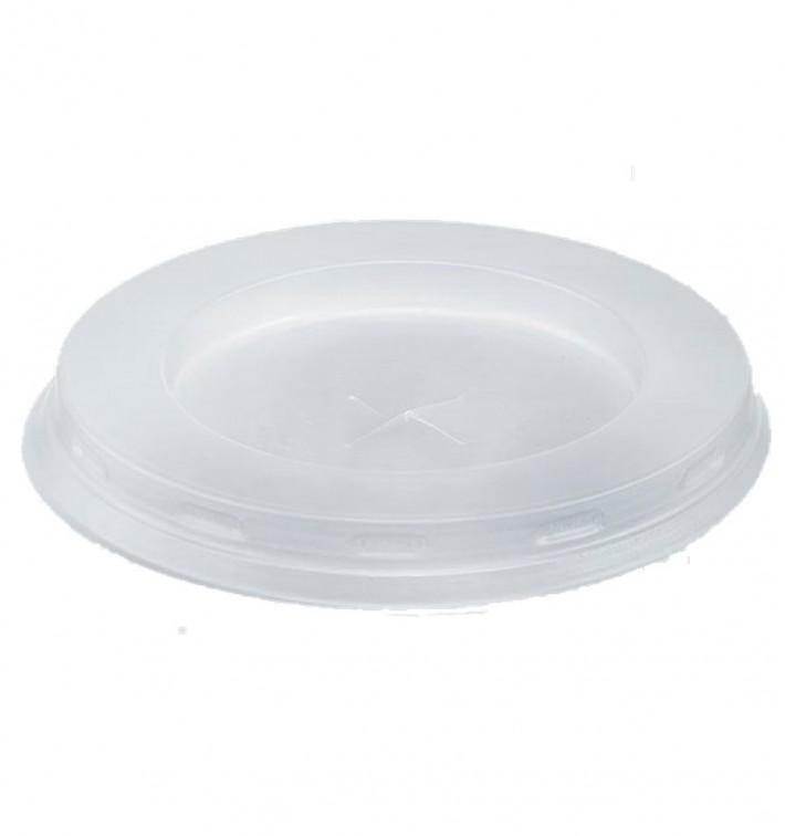 Tapa Plastico PS Blanca Vaso Cristal 200/250ml Ø7,2cm (100 Uds)