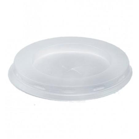 Tapa Plana con Cruz PS Blanco Ø7,2cm (100 Uds)