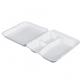 Envase Foam MenuBox 3 C. Blanco 200x190mm (100 Uds)