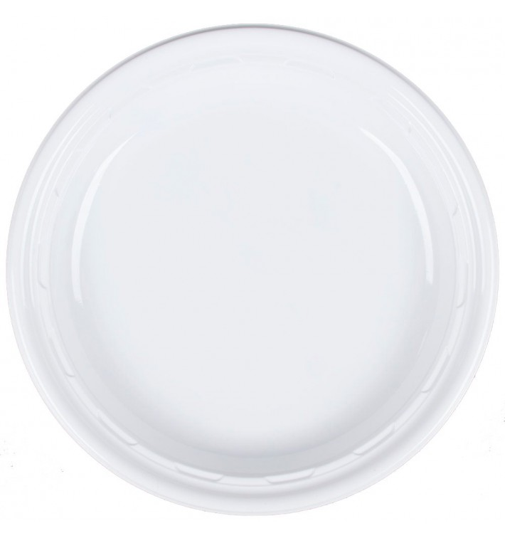 """Plato de Plastico PS """"Famous Impact"""" Blanco Ø230mm (500 Uds)"""