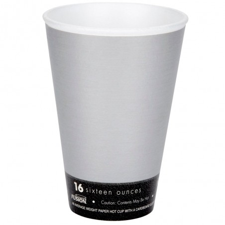 "Vaso Termico Fusion ""Steele"" 16Oz/473ml Ø9,4cm (25 Uds)"