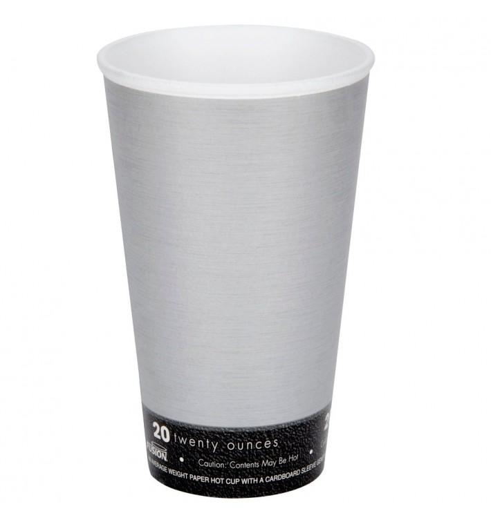 "Vaso Termico Foam ""Fusion"" Gris 20Oz/591ml Ø94mm (500 Unidades)"