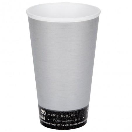 "Vaso Termico Fusion ""Steele"" 20Oz/591ml Ø9,4cm (500 Uds)"