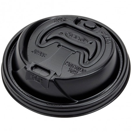Tapa Travel Recerrable PS para Vaso Foam Negro Ø9,4cm (1000 Uds)