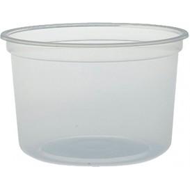 """Envase de Plastico PP """"Deli"""" Translucido 16Oz/473ml Ø94mm (25 Unidades)"""