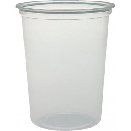 """Envase de Plastico PP """"Deli"""" Translucido 32Oz/960ml Ø127mm (500 Unidades)"""