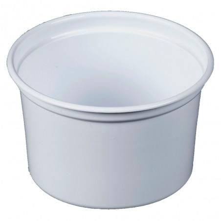 """Envase de Plastico PP """"Deli"""" Blanco 16Oz/473ml Ø94mm (500 Unidades)"""
