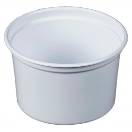 "Envase Plastico PP ""Deli"" 16Oz/473ml Blanco Ø120mm (25 Uds)"