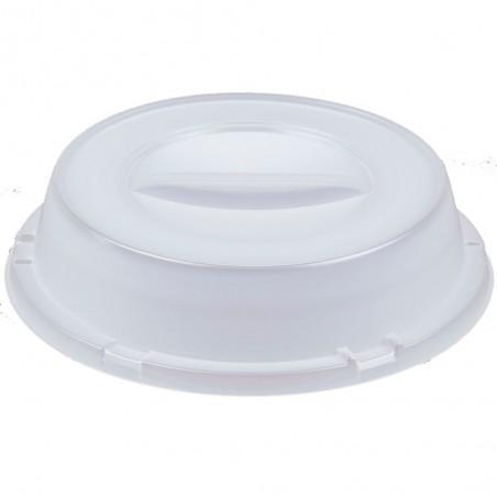 Tapa Alta de Plastico PS Translucida para Plato Ø240mm (125 Uds)