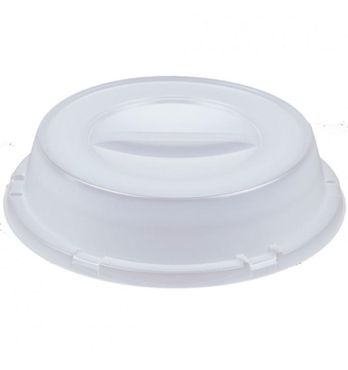 Tapa Alta de Plastico PS Translucida para Plato Ø230mm (500 Uds)