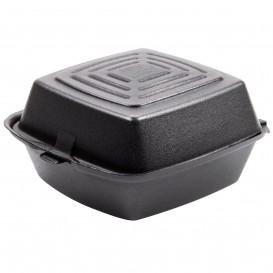 Envase Hamburguesa FOAM Negro 150x150x80mm (125 Uds)
