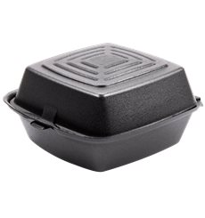 Envase Hamburguesa FOAM Negro 150x150x80mm (500 Uds)