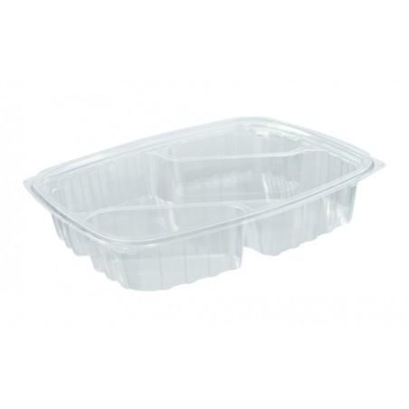"Envase Plastico OPS ""ClearPac"" 3 C. Diagonal Transp. 887ml (63 Uds)"