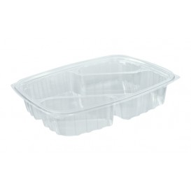 "Envase de Plastico PS ""Clear Pac"" 3 C. Diagonal Transp. 887ml (252 Uds)"