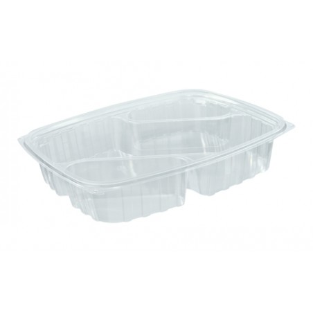 "Envase Plastico OPS ""ClearPac"" 3 C. Diagonal Transp. 887ml (252 Uds)"