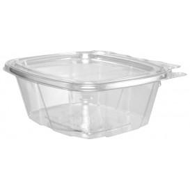 Envase Inviolable de Plástico PET Tapa Plana 475ml (100 Uds)