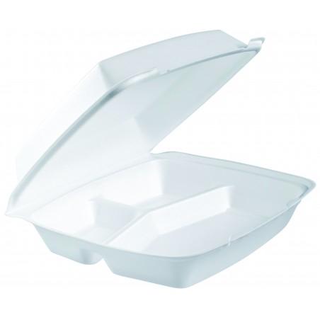 Envase Foam MenuBox 3 C. Blanco 240x235mm (200 Uds)