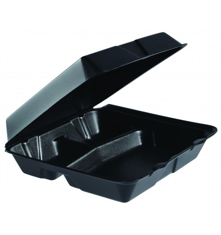 Envase Foam MenuBox 3C. Negro 240x235mm (100 Uds)