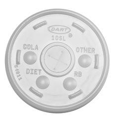 Tapa de plastico PS Translúcida con Cruz Ø8,6cm (1000 Uds)