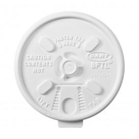 "Tapa de Plastico PS Blanca ""Lift n' Lock"" con solapa Ø (100 Uds)"