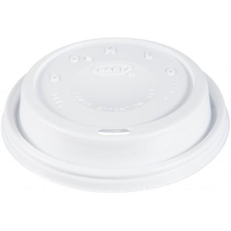 """Tapa de Plastico PS """"Cappuccino"""" Blanca Ø9,4cm (1000 Uds)"""