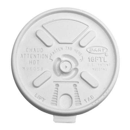 Tapa Recerrable Plastico PS Blanco Ø9,4cm (1000 Uds)
