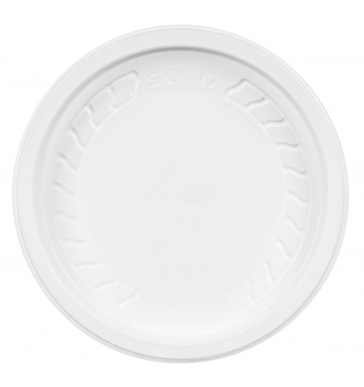 "Tapa de Plastico PP ""Deli"" Blanco Ø120mm (500 Unidades)"