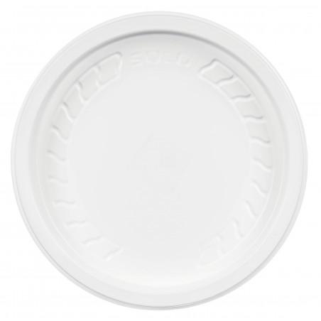 "Tapa de Plastico PP ""Deli"" Blanco Ø120mm (50 Unidades)"