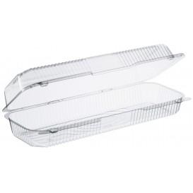 """Envase Plástico OPS """"StayLock"""" Bisagra Transp. 1310ml (125 Uds)"""
