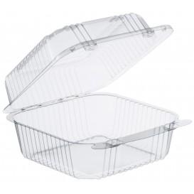 """Envase Plástico OPS """"StayLock"""" Bisagra Transp. 790ml (500 Uds)"""