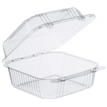 """Envase Plástico PS """"StayLock"""" Bisagra Transp. 790ml (500 Uds)"""