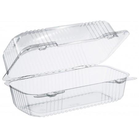 """Envase Plástico OPS """"StayLock"""" Bisagra Transp. 707ml (125 Uds)"""