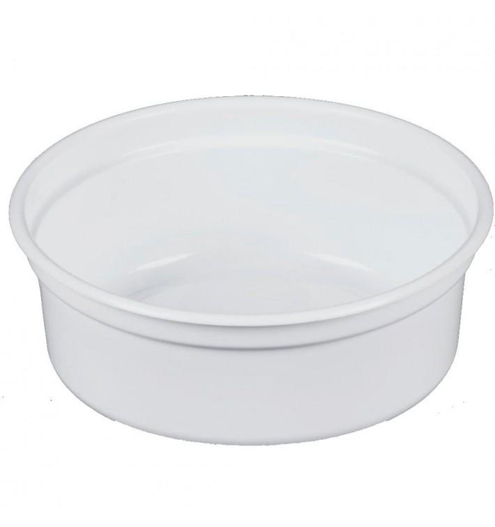 """Envase Plastico PP """"Deli"""" 8Oz/266ml Blanco Ø120mm (25 Uds)"""