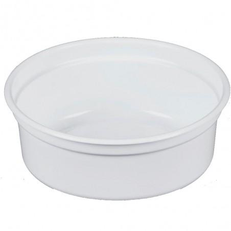 """Envase de Plastico PP """"Deli"""" Blanco 8Oz/266ml Ø81mm (25 Unidades)"""