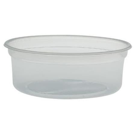 "Envase de Plastico PP ""Deli"" 8Oz/266ml Transp. Ø120mm (25 Uds)"