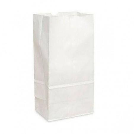 Bolsa de Papel Sin Asas Kraft Blanca 50g/m² 12+8x24cm (25 Uds)
