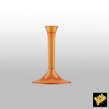 Pie Naranja Transparente de plástico para Copa (20 Uds)