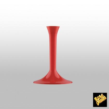 Pie Rojo de plástico para Copa (20 Uds)