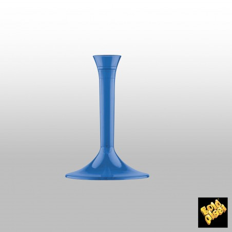 Pie Azul Transparente de plástico para Copa (20 Uds)