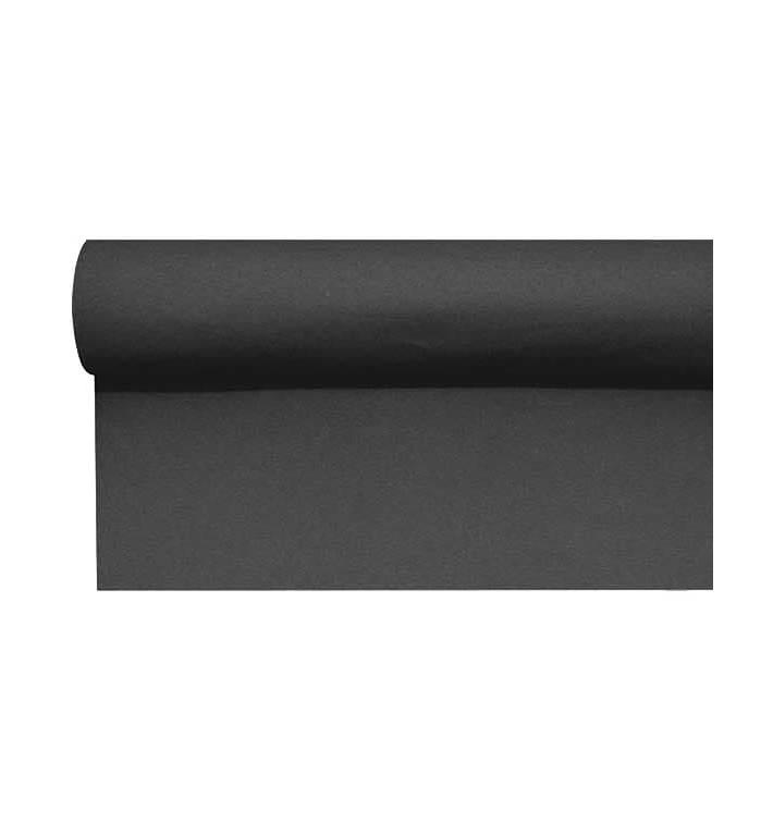 Mantel Camino Airlaid Negro 0,4x48m Precorte 1,2m (1 Ud)