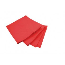 Servilleta de Papel Cocktail Roja 20x20cm (100 Uds)