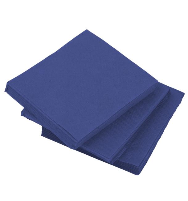Servilleta de Papel Cocktail Azul 20x20cm (100 Uds)