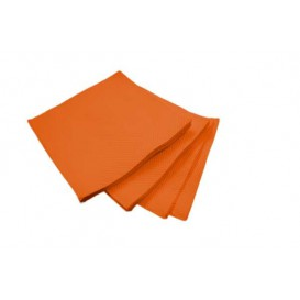 Servilleta de Papel Micropunto 20x20cm 2C Naranja (2.400 Uds)