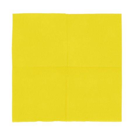 Servilleta de Papel Micropunto 20x20cm 2C Amarilla (100 Uds)