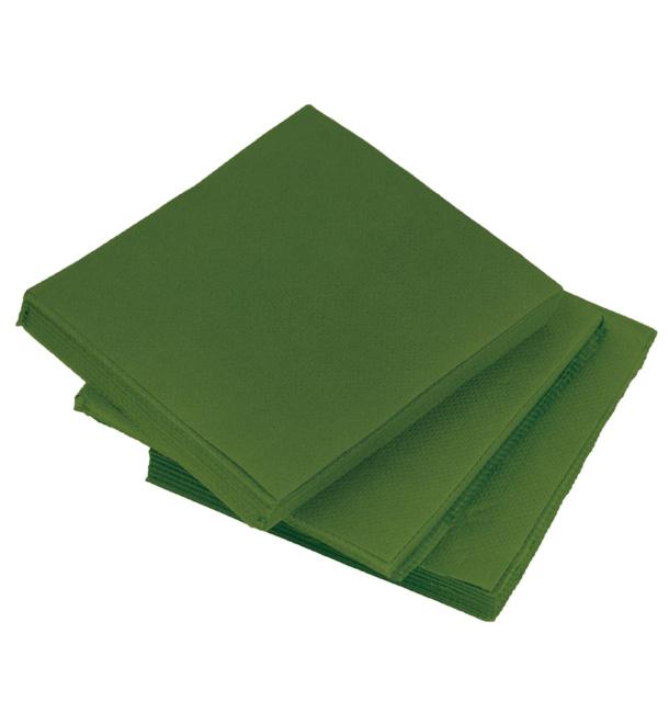 Servilleta de Papel Cocktail Verde 20x20cm (100 Uds)