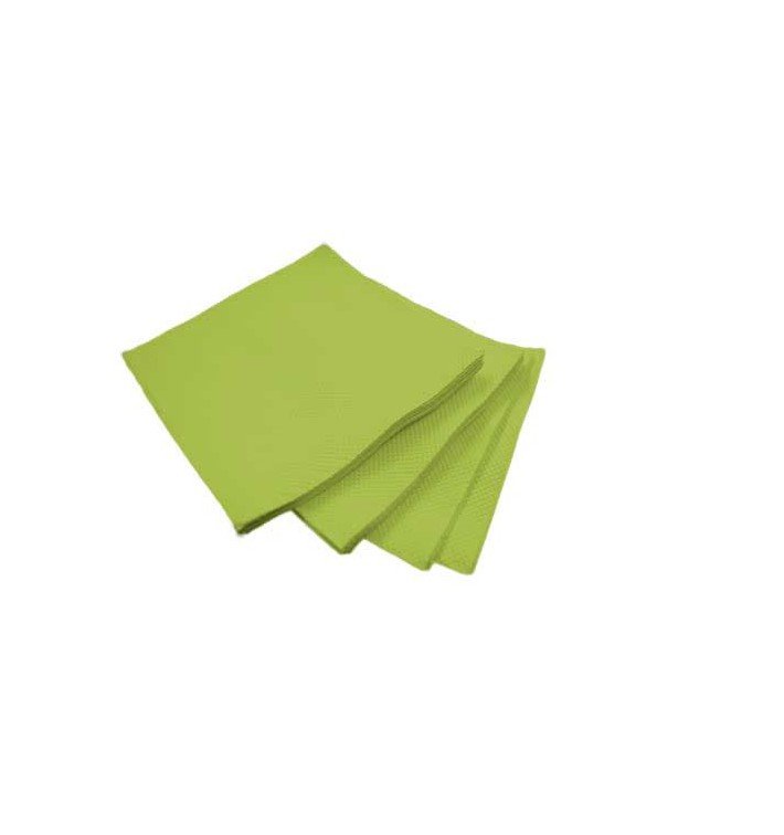 Servilleta de Papel Micropunto 20x20cm 2C Pistacho (100 Uds)