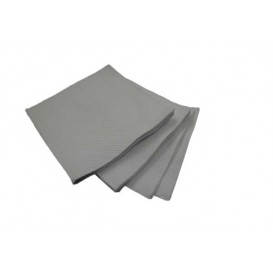 Servilleta de Papel Cocktail Gris 20x20cm (100 Uds)