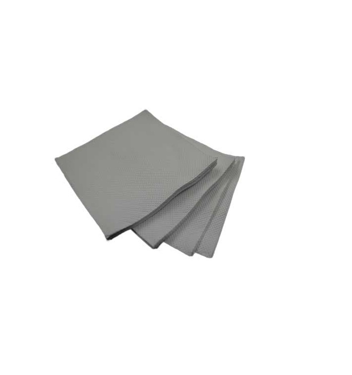Servilleta de Papel Cocktail Gris 20x20cm (2400 Uds)
